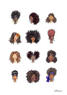 """How To Be Curly""   Print available on RedBubble. #illustration #naturalhair"