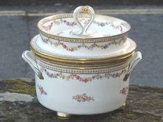 Minton ice-cream  pail c1820 - OH WOW, If I had a forturne....I'd hunt one down and get one....too lovely for words!!