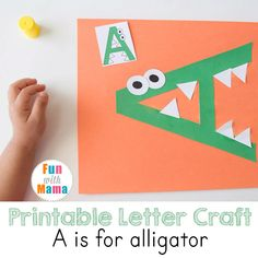 These printable letter a crafts for toddlers and preschoolers are a part of our preschool letter of the week curriculum. These letter a activitieswork on a child's fine motor skills, visual perception and hand eye coordination. For uppercase letter Awe did a printable letter a alligator craft. You can find all of our printable letter crafts here. Printable Letter A Crafts Materials Required for Letter aactivities: Please note that affiliate links are used in this post. I order all of o...