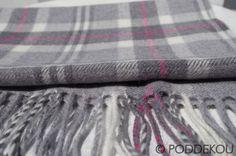 VLNENÝ ŠÁL MERINO – SIVÝ | PODDEKOU Wool Scarf, Scarves, Blanket, Scarfs, Blankets, Cover, Comforters