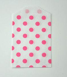 Itty Bitty Pink Polka Bags