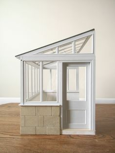 Minus the bricks, this is Gemma's screen room/conservatory/sunroom with a pool)