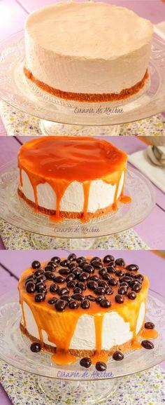 Pastel mousse de chirimoya / http://www.cocinaconana.com/