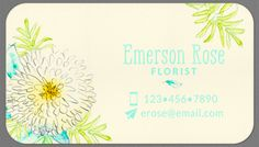 Personalized Business Cards Floral Watercolor Calling Cards - Set of 40 by OlivineStationery on Etsy