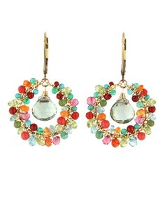 Dana Kellin Round Brazilian Mix Earrings