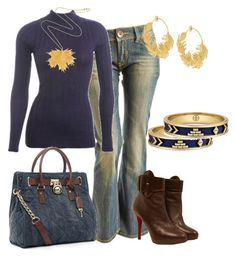 jean casual by outfits-de-moda2 on Polyvore featuring moda, Wet Seal, Christian Louboutin, MICHAEL Michael Kors, Alex Monroe, House of Harlow 1960 and Emilie Hagen