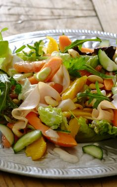 Smoked Chicken and Citrus #Salad: This light and summery salad combines papaya and smoked chicken and is perfect to serve at an alfresco meal!
