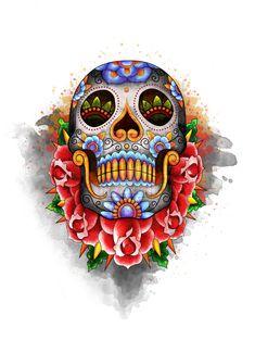 sugar+skull+art | sugar skull by EPI19