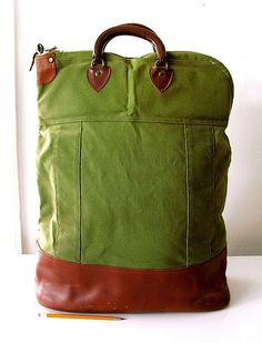 Giant canvas and leather bank bag from the old Porteous Department store in Portland (ME?) Love the look of this bag!!!