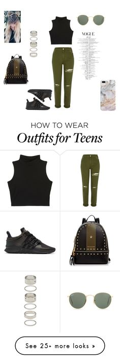 """""""Untitled #91"""" by skyline-jazi on Polyvore featuring River Island, adidas Originals, MICHAEL Michael Kors, Recover, Ray-Ban and Forever 21"""