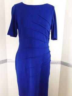 Calvin Klein Petites Royal blue dress size 10P #CalvinKlein #Sheath #Casual
