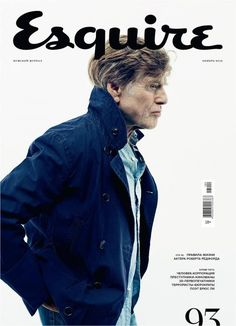 Esquire (Russia) Robert Redford stars new cover Esquire Russian edition