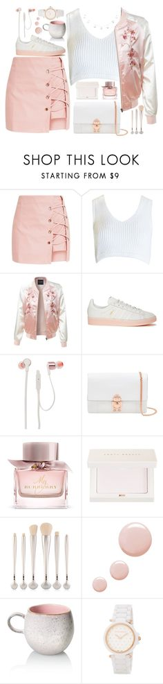 """""""style"""" by lena-volodivchyk ❤ liked on Polyvore featuring Sans Souci, LE3NO, adidas Originals, JBL, Ted Baker, Burberry, Puma, Topshop and Nina Ricci"""