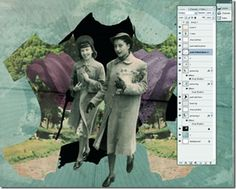Vintage collages in Photoshop