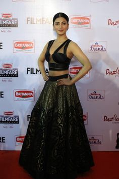 Shruti Haasan at the Britannia South Filmfare Awards 2015. #Kollywood #Tollywood #Mollywood #Fashion #Style #Beauty