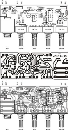 Layout Pcb Tone Control Apex - Apex Tone Preamp - Layout Pcb Tone Control Apex 500 w Hifi Amplifier, Class D Amplifier, Diy Electronics, Electronics Projects, Layout Pcb, Electronic Circuit Design, Circuit Board Design, Electrical Circuit Diagram, Subwoofer Box Design