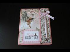 Álbum encargado como regalo para un día tan especial como es el bautizo de una hija. Diseñado con la colección de papeles de Bundle of Joy de Kaisercrafts.