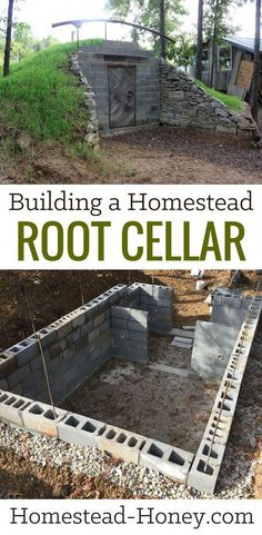 Building a Homestead Root Cellar eBook - A step-by-step guide to building your own homestead root cellar. If you are a DIY homesteader looking for a time-saving and practical solution to your food preservation needs, or if self-sufficiency is your goal, Homestead Survival, Homestead Farm, Survival Prepping, Survival Skills, Survival Gear, Survival Tattoo, Survival Backpack, Survival Quotes, Outdoor Survival