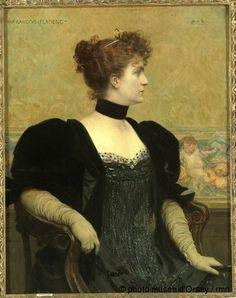 François Flameng Madame Flameng en 1893