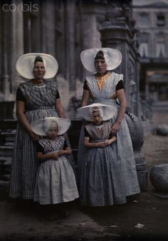Middelburg, Netherlands November 1931 Photographer Wilhelm Tobien. I wonder what the history behind that head wear is? I will have to look it up sometime~!~