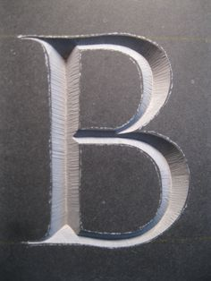 Untitled | by Elwyn Brooks Lettering Design, Hand Lettering, Stone Carving, Wood Carving, Stone Masonry, Letter B, Illuminated Letters, Typography Letters, Sculpture Art