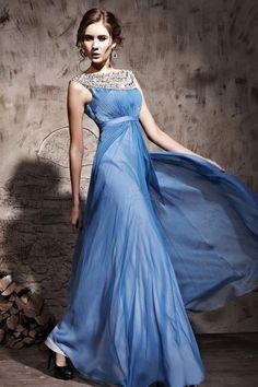 BuyFabulous A-Line Bateau Floor-Length Evening Dress          Online, Dresswe.Com offer high quality fashion,Price: USD$124.29