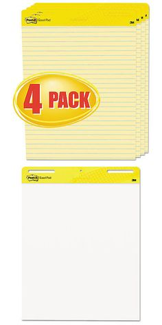 Other Narrow Gauge 9037: Self Stick Easel Pads, Ruled, 25 X 30, Yellow, 4 30 Sheet Pads Carton-Mmm561vad4 -> BUY IT NOW ONLY: $158.74 on eBay!