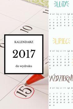 Kalendarz 2017 za darmo do wydruku na blogu Blogodynka.pl - akwarela, minimalizm, watercolor