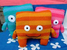 Knit monster plushes