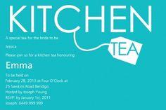 Tea Time Delight Postcard in Tiffany Blue Invitation