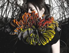 patternprints journal: THREE-DIMENSIONAL LAYERED PATTERNS INTO TEXTILE JEWELRY BY MARIANA ACOSTA