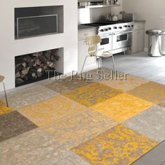 Louis De Poortere Rugs Vintage Multi 8084 Yellow Online From The Rug Er Uk