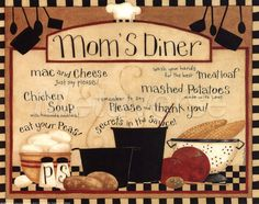 Mom's Diner art print at Coffee Decor