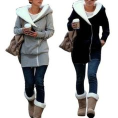 Womens Pullover Jumper Hoodie Hooded Coat Warm Sweatshirt Outerwear Jacket...yes please