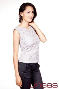 Blusa, Modelo 20048. Precio $160 MXN y Pantalón, Modelo 19804. Precio $190 MXN #Lineas #outfit #moda #tendencias #2014 #ropa #prendas #estilo #primavera #outfit