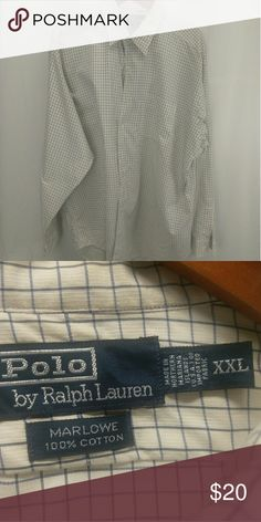 Polo Ralph Lauren Checked/Plaid  Casual Shirt Black & Blue Lines Ralph Lauren Blue Label Shirts Casual Button Down Shirts
