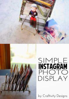 A Simple Tip // DIY Instagram Photo Display