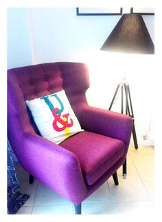 Gavin has used the Kubrick chair and Navy tripod floor lamp to accessories a corner of his dinning room.