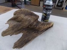 Start your Carpentry Business - Launching Your Woodworking Business - How to treat driftwood to protect it and bring out the tones and colors Driftwood Sculpture, Driftwood Art, Driftwood Table, Driftwood Projects, Diy Projects, Project Ideas, Driftwood Ideas, Minwax, Beach Crafts