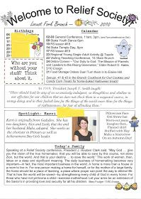 Simplest Newsletter I once had a church assignment where I sent a list of seldom seen sisters a message in the mail each month....