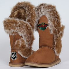 NHL Cuce Shoes Minnesota Wild Ladies The Fanatic Boots - Tan. Want these SOOOOO bad!!!