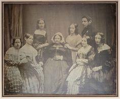 Hermann Biow | Susanna Hahn, geb. Lazarus (1784[?]-1860), mit sieben von ihren elf Kindern | Museum für Kunst und Gewerbe Hamburg