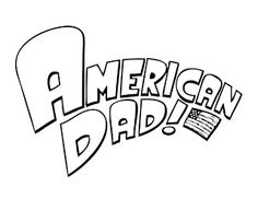 American dad coloring pages logo | coloring pages | Pinterest