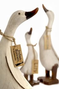 wooden ducks - love these ever since I saw Mary Fhelberg's x