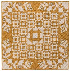 A cozy combination of toast and cheddar - hence the quilt's name! Pearly buttons provide a little shine in this quilt from Kim Diehl.