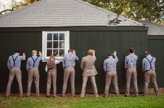 funny wedding party poses