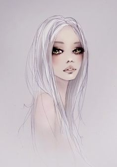 White hair--oh my! inspiration to draw!!!