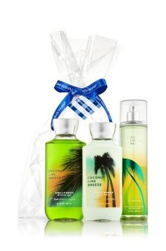 Bath and Body Works Coconut Lime Breeze Gift Set - All New Daily Trio (Full-Sizes) > Details can be found  : Travel Skincare