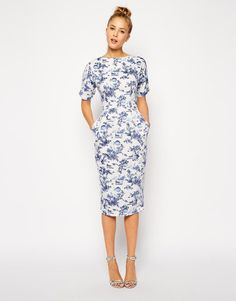 ASOS Wiggle Dress in Summer Days Print