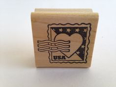 USA Postage Stamp With Heart Postage Vintage Rubber Stamp - Card Making - Crafts  161012C by SirStampinton